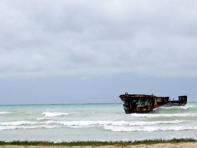 Shipwreck Aruba Old Ship Near Malmok Beach Debbie