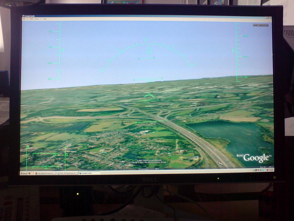 google flight sim google flight sim in google earth on a d flickr. Black Bedroom Furniture Sets. Home Design Ideas