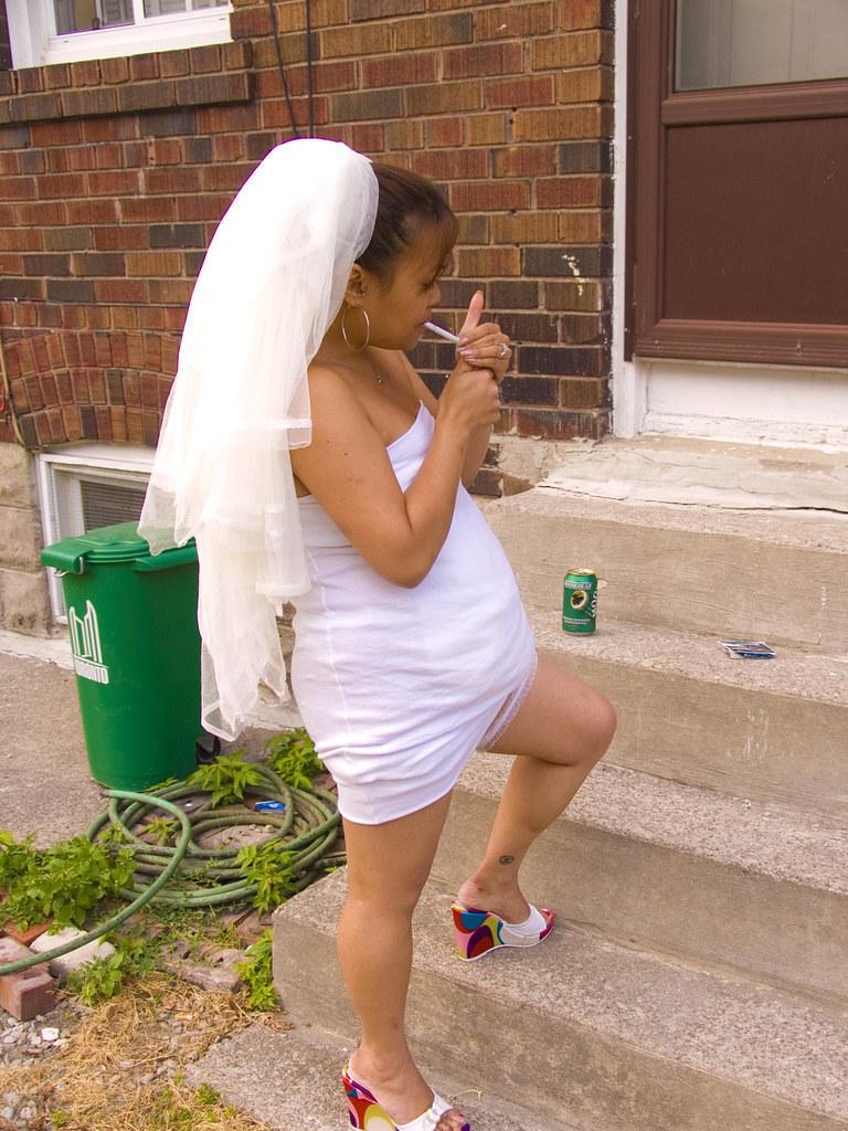 Trashy Bride Lighting Up Jonathan Hinkle Flickr