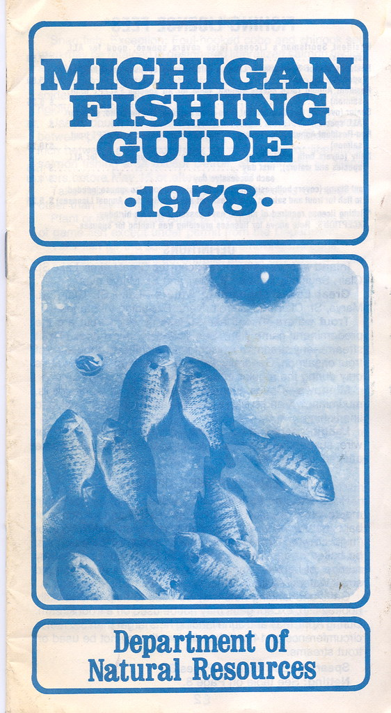 1978 michigan fishing license guide 1978 michigan for Fishing license mi