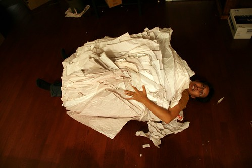 Attack of the packing paper. | by richito bonito