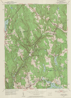 Moodus Quadrangle 1952 - USGS Topographic Map 1:24,000 | by uconnlibrariesmagic