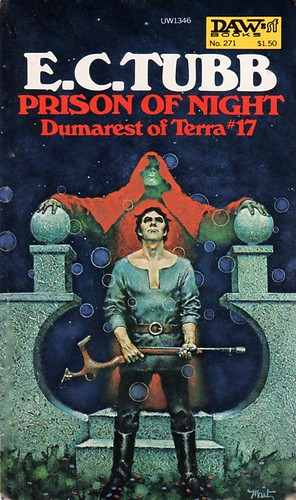 Dumarest Saga Book 17 - Prison of Night - E.C. Tubb - cover artist Don Maitz - 1st publication 1st edition