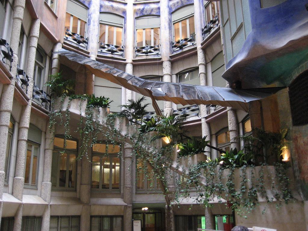 Casa Mila Courtyard | Interior courtyard of Casa Mila ... Casa Mila Courtyard