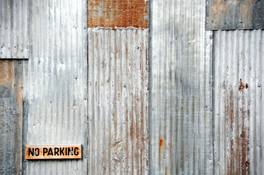 No Parking Sign Corrugated Steel Sheet Metal Gruene Texas