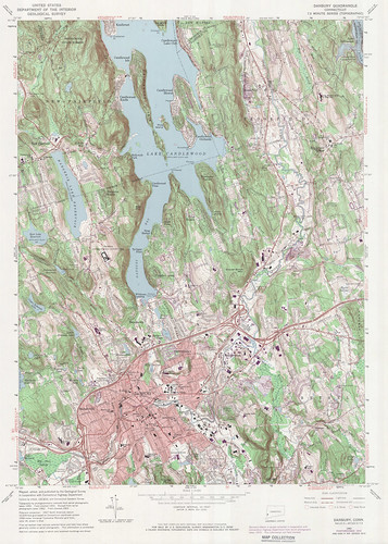 Danbury Quadrangle 1972 - USGS Topographic 1:24,000 | by uconnlibrariesmagic