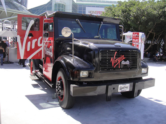 virgin gaming armored truck