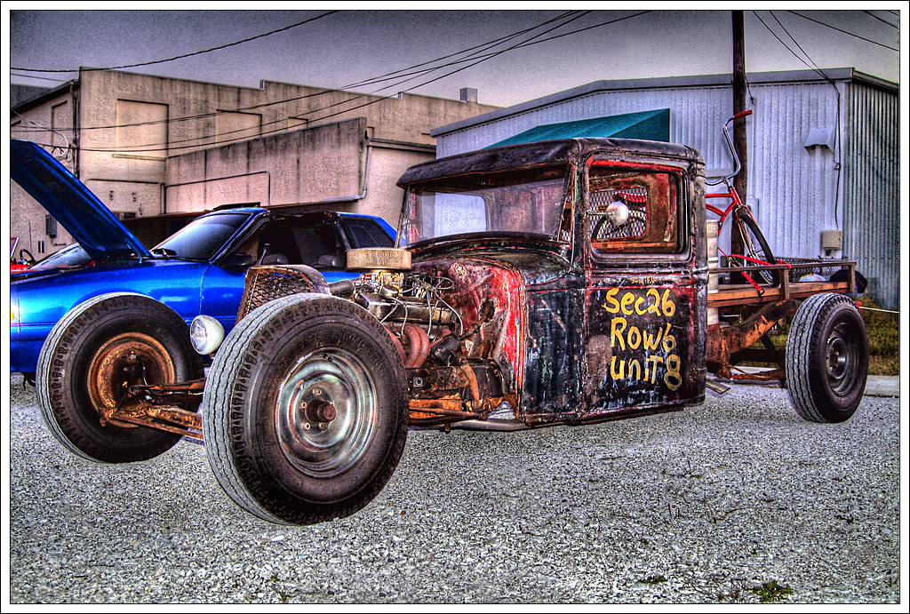 Rat Rod Truck This Cool Rat Rod Truck Was At Slicks