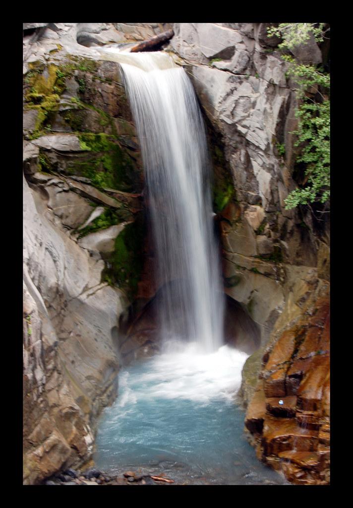 Crystal Falls Mt Rainier National Park Picture Taken