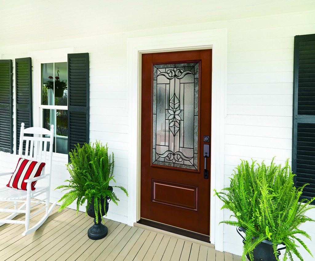 Front Porch With Jeld Wen Select Fiberglass Door Jeld