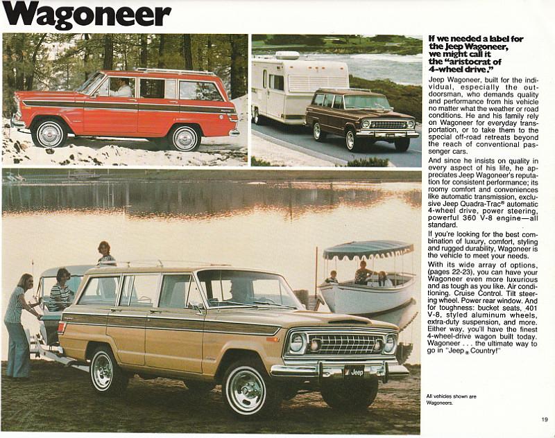 1977 Jeep Wagoneer 1977 Jeep Sales Brochure Geepstir