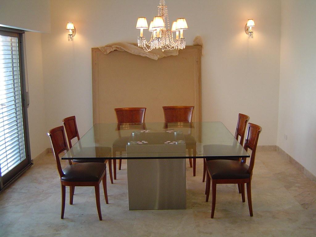 Mesa comedor mc1 mesa comedor con pata central realizada for Mesa comedor pata central