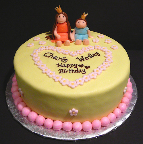 Birthday Cake Images For Sisters : Charis and Wesley s birthday cake A birthday cake for 4 ...