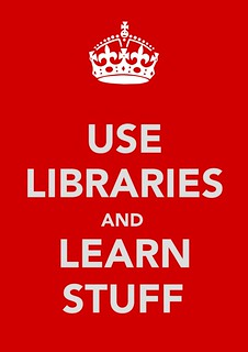 (Higher quality) Use Libraries and Learn Stuff image | by WordShore