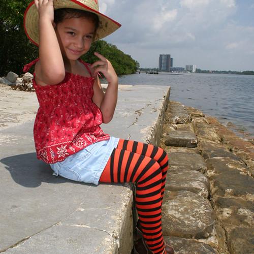 Kids Striped Tights Halloween Tights  Sophia In -3408