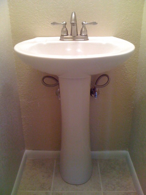 Pedestal sink installation plan