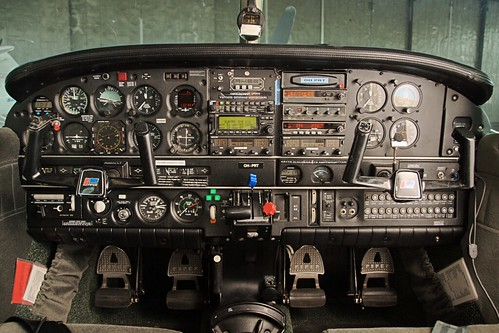 Instrument Panel Shot Of A Piper Lance Pa32r