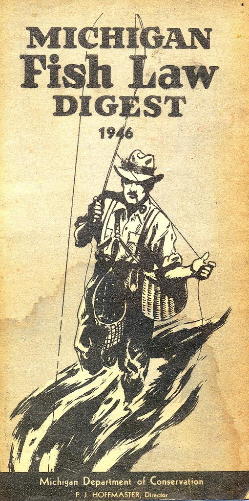 1946 michigan fishing license guide 1946 michigan for Michigan fishing regulations