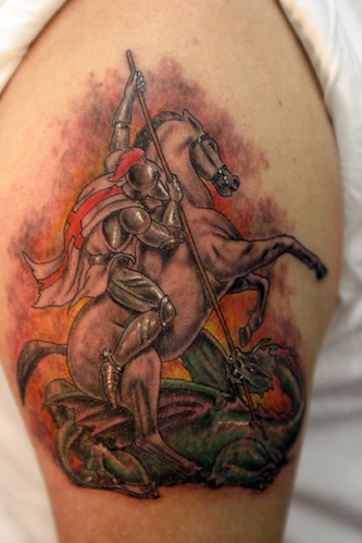 St george and dragon tattoo flickr photo sharing for St george tattoo