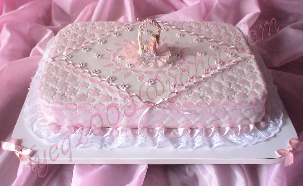 Torta bautizo ni a rombo tortas lenny espinoza cs for Decoracion de tortas para ninas