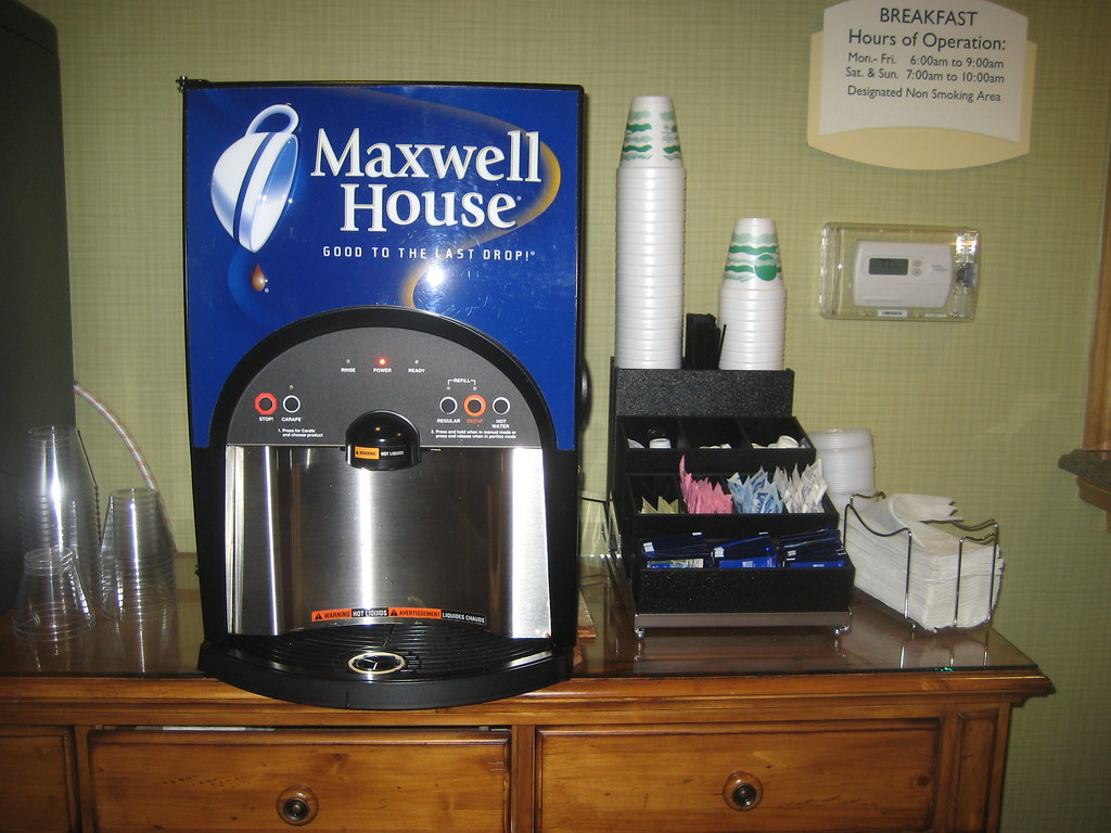 Maxwell House Coffee Machine | Found in our hotel ...