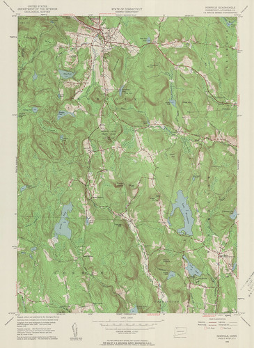 Norfolk Quadrangle 1956 - USGS Topographic Map 1:24,000 | by uconnlibrariesmagic