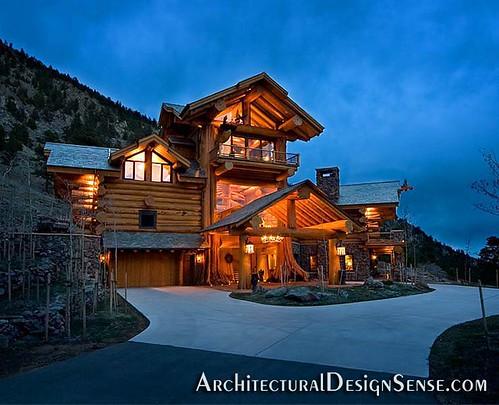 pioneer log home flickr photo sharing. Black Bedroom Furniture Sets. Home Design Ideas