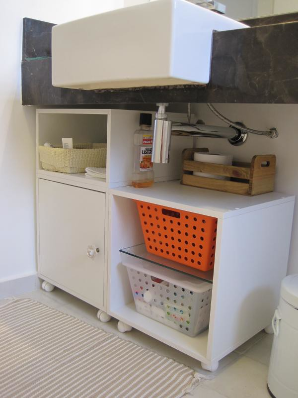 Detalhes Armário Banheiro  Cubos pra debaixo da pia  Flickr -> Armario Banheiro Modular