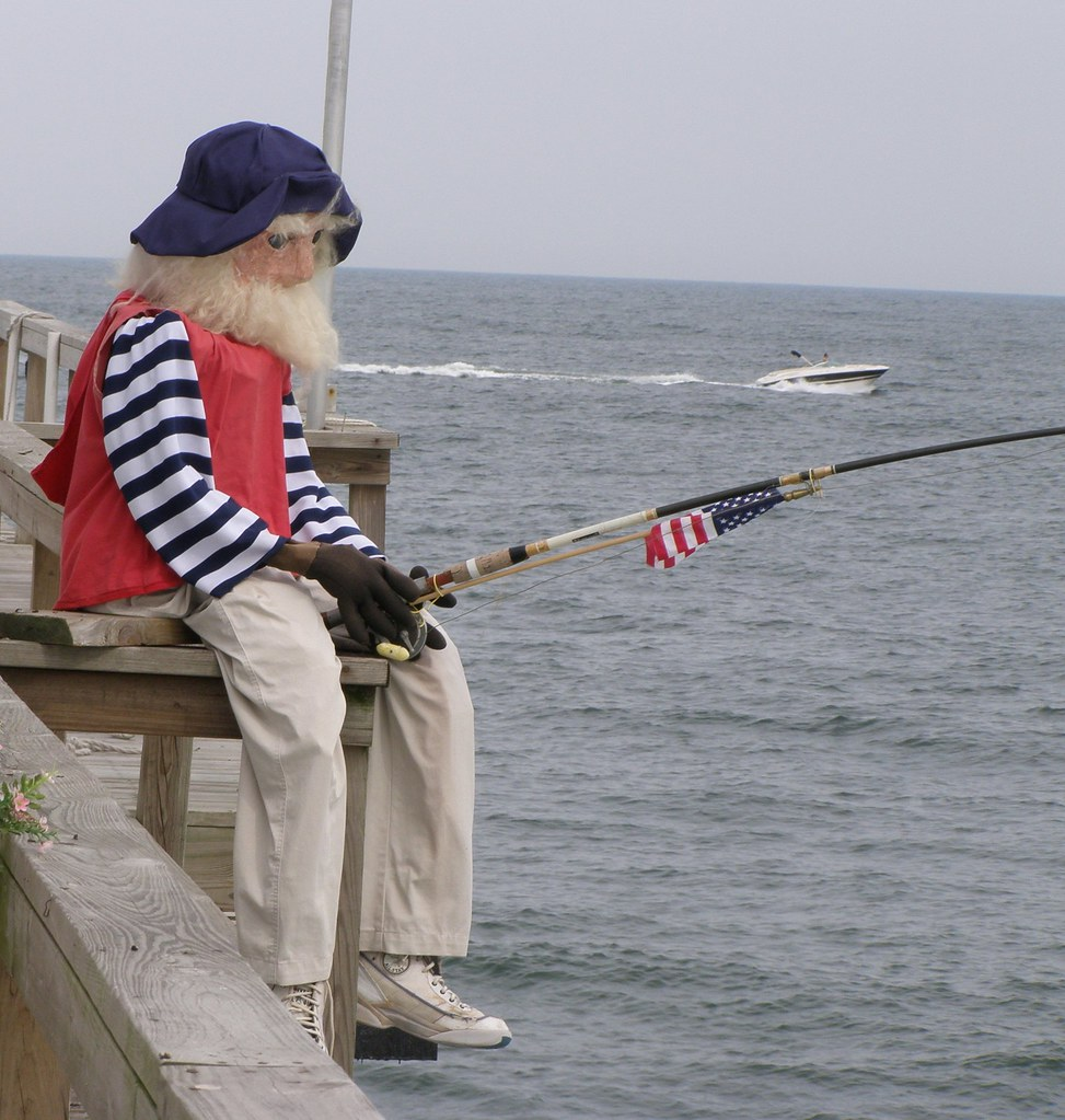 Fisherman doll at the ocean grove nj fishing club on the for Ocean city nj fishing report