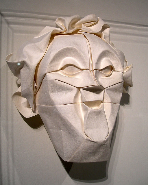 "Origami face: 'Mask,' by Eric Joisel | ""Mask"" (1996) by ..."