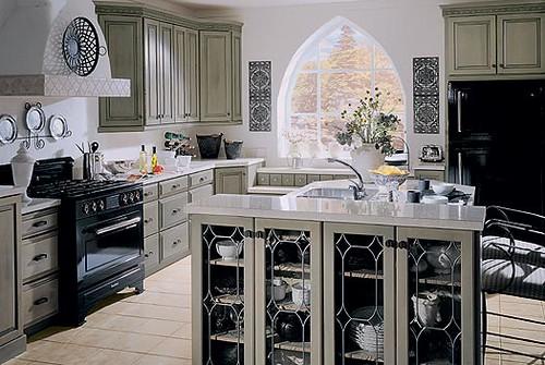 Gray Gothic Kitchen