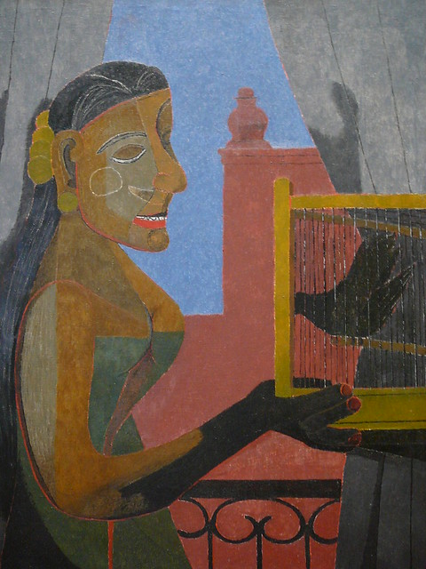 Woman with a bird cage tamayo flickr photo sharing for Mural rufino tamayo