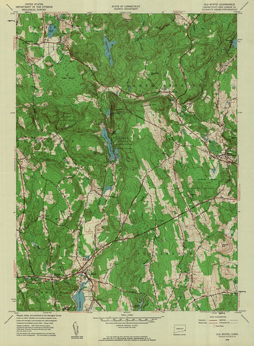 Old Mystic Quadrangle 1958 - USGS Topographic Map 1:24,000 | by uconnlibrariesmagic