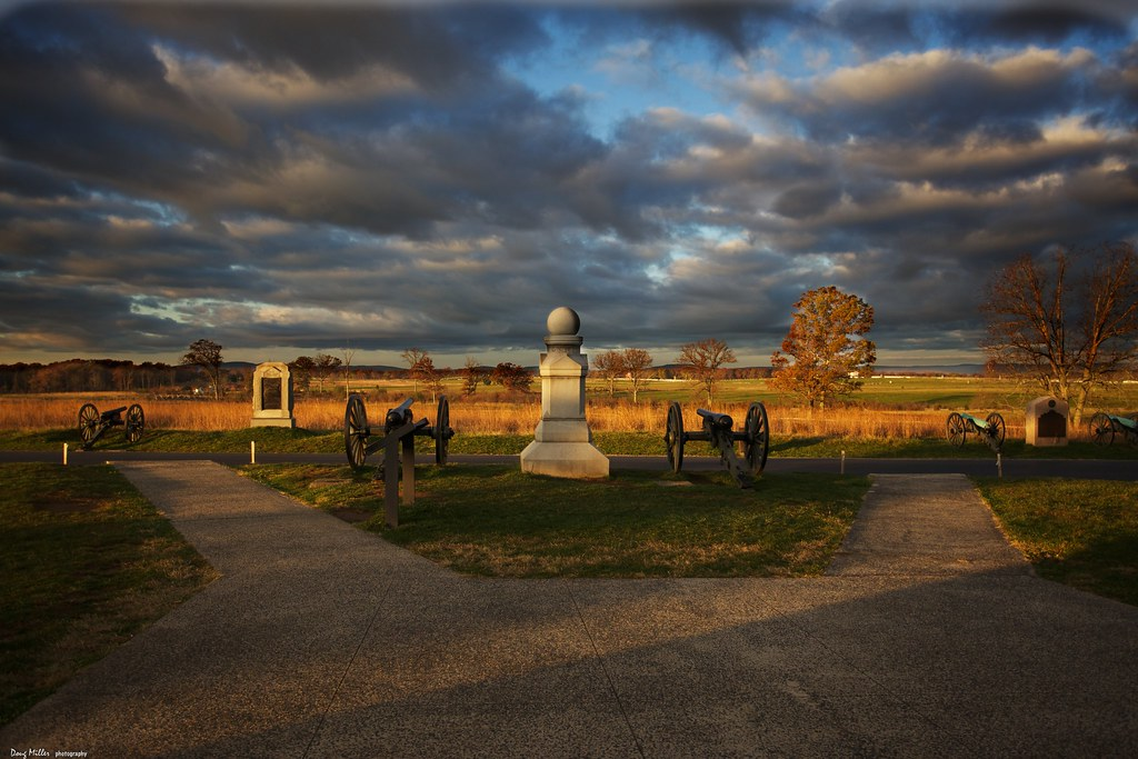 sunrise along cemetery ridge gettysburg pa looking west a flickr. Black Bedroom Furniture Sets. Home Design Ideas