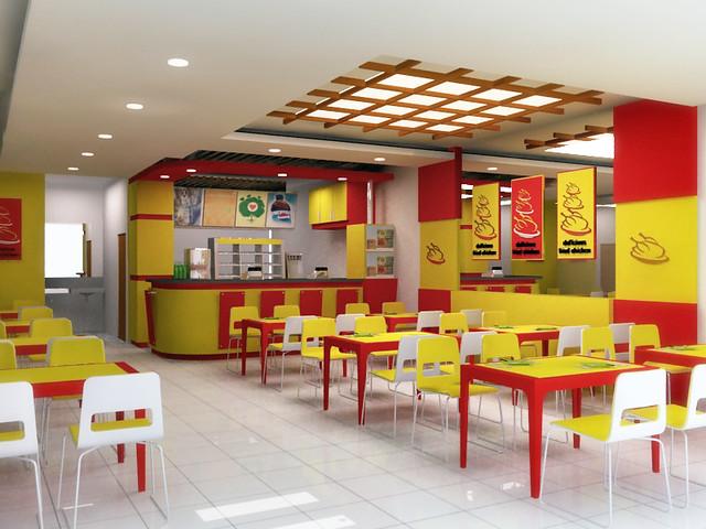 Fried chicken counter design outlet el