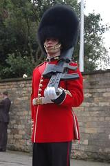 Grenadier Guard holding a gun