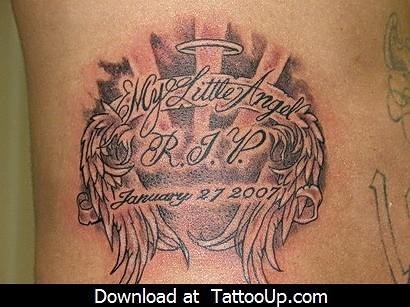 baby angel tattoo design angel tattoo angel tattoo design flickr. Black Bedroom Furniture Sets. Home Design Ideas