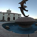 The Dolphin Fountain installation