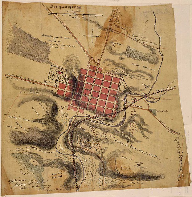 Martinsburg WV Historic Civil War Map 1861 Photo Sour Flickr