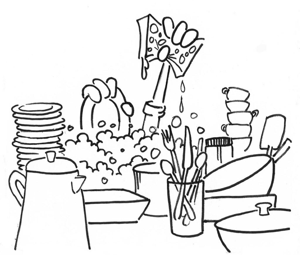 Washing dishes louisiana sea grant college program louisiana state university flickr - Coloriage car wash ...