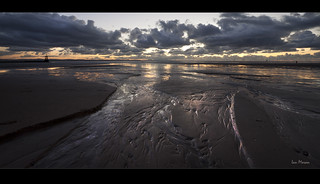 Pools of gold, wonderful light on Crosby beach, Explore Frontpage | by Ianmoran1970