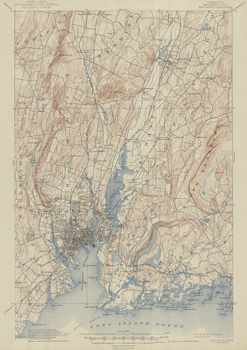 New Haven Quadrangle 1890 - USGS Topographic Map 1:62,500 | by uconnlibrariesmagic