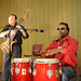CI staff member, Jon Brooks, on conga drums and Randy Strom on 12-string guitar