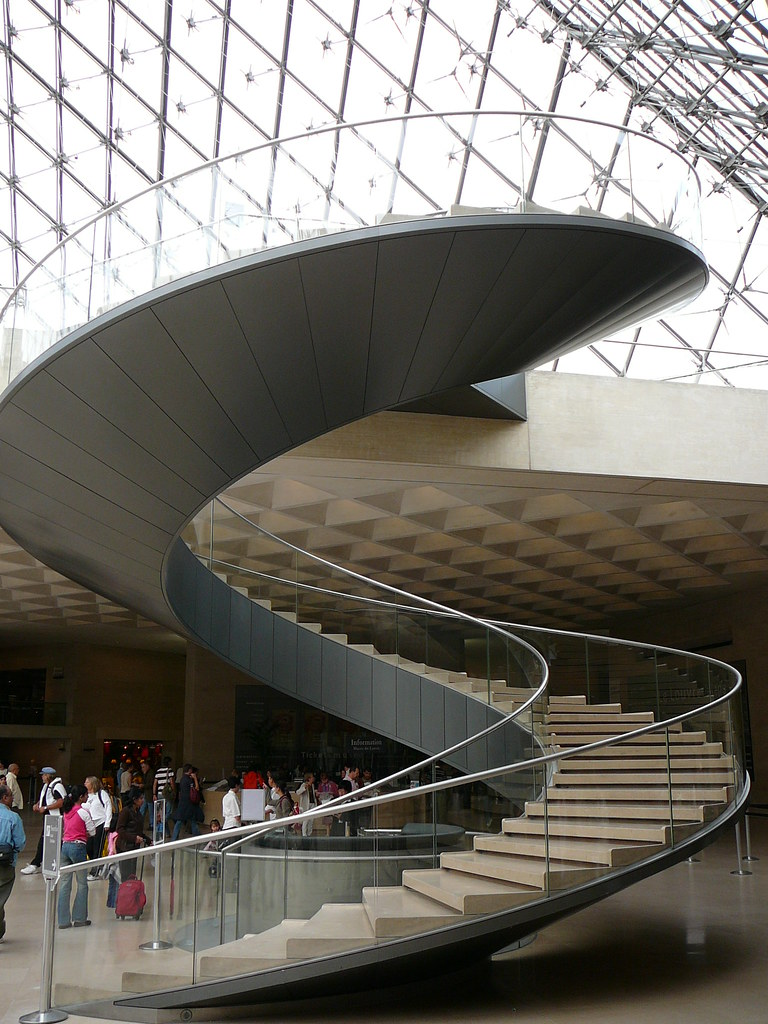 I M Pei Spiral Staircase The Louvre Paris Treedson