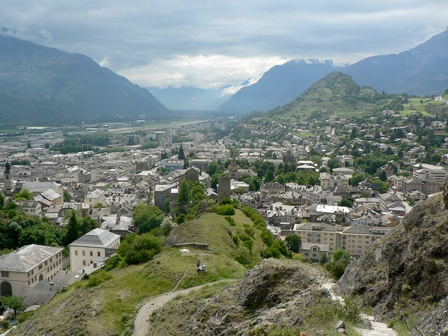 Sion Switzerland  city photos : Sion, Switzerland from castle | Explore wimbledonian's photo ...