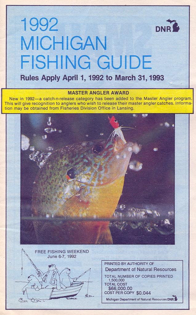 1992 michigan fishing license guide 1992 michigan for Michigan fishing license online