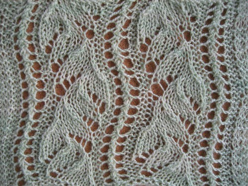 Knitting Stitch Orientation : Chinese Lace Swatch Flickr - Photo Sharing!