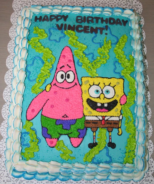 Sponge Bob and Patrick Cake Please let me know what you th Flickr