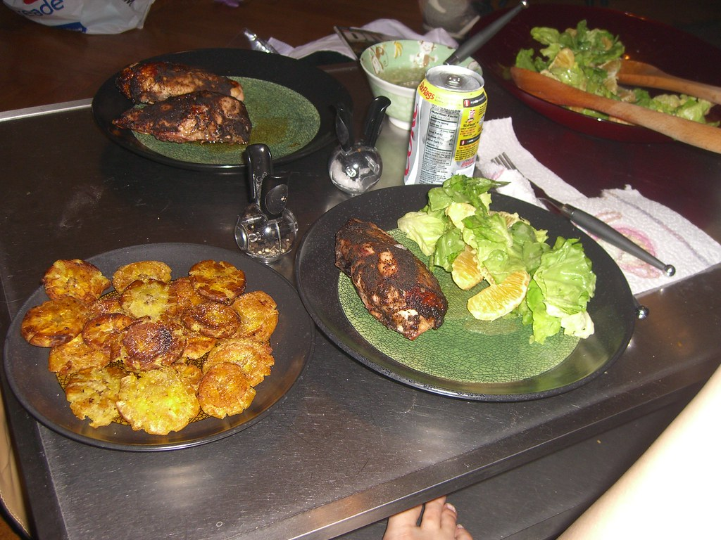 Jerk Chicken Breasts, Fried Plantains, And Bibb Salad ...
