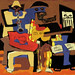 iPad Painting Of Picasso's Three Musicians
